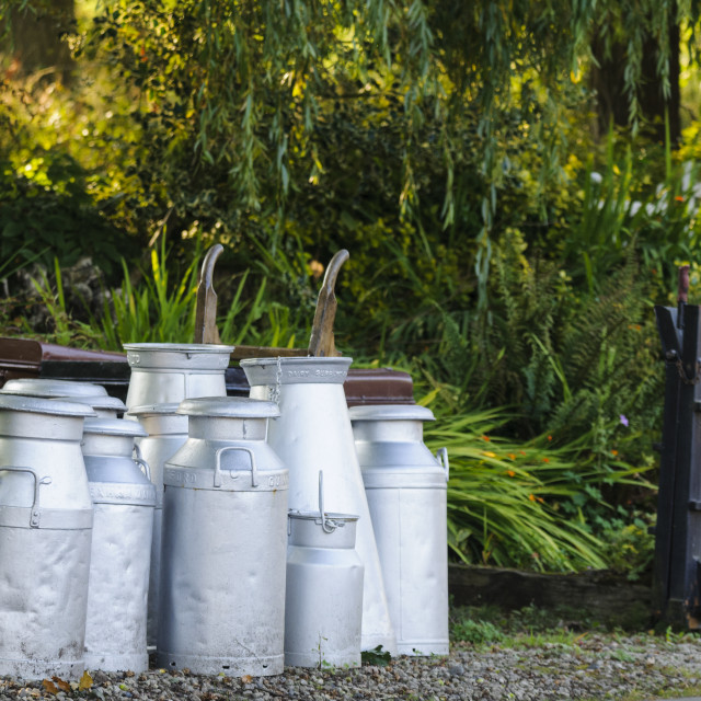 """Milk churns"" stock image"
