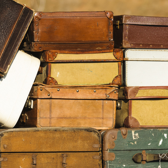"""Stacked Luggage Cases"" stock image"