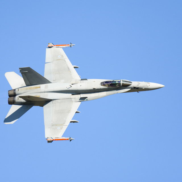 """""""Top side view of a Finnish F-18"""" stock image"""