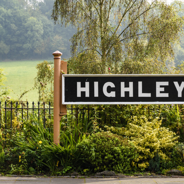 """""""Station sign and lamp post"""" stock image"""