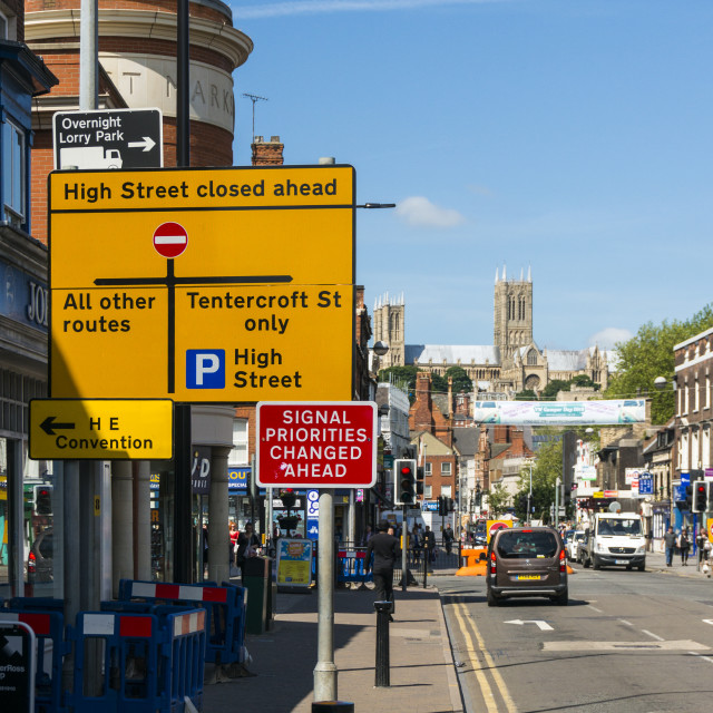 """""""Traffic signs in Lincoln"""" stock image"""