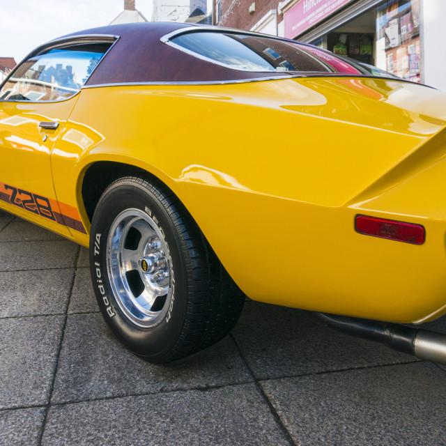 """Yellow Chevrolet Camaro Z28"" stock image"