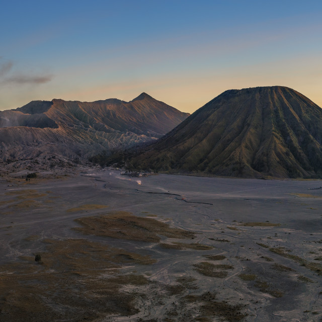 """Mount Bromo Sunset Panorama"" stock image"