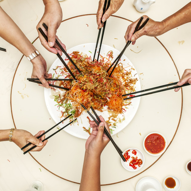 """Yee Sang Dish"" stock image"