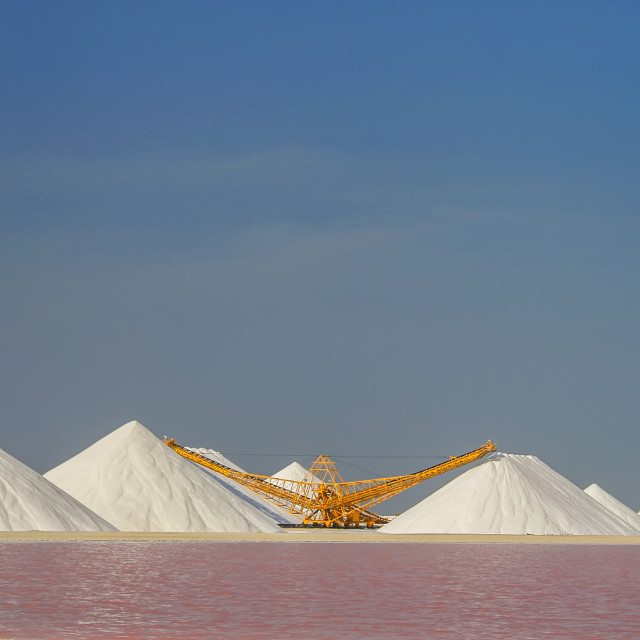"""Salt pans"" stock image"