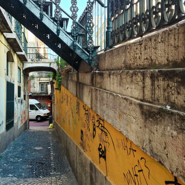 """""""Old Lisbon alley"""" stock image"""