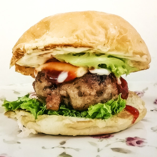 """Pork Burger"" stock image"