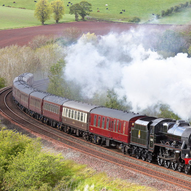 """Steam train Leander."" stock image"