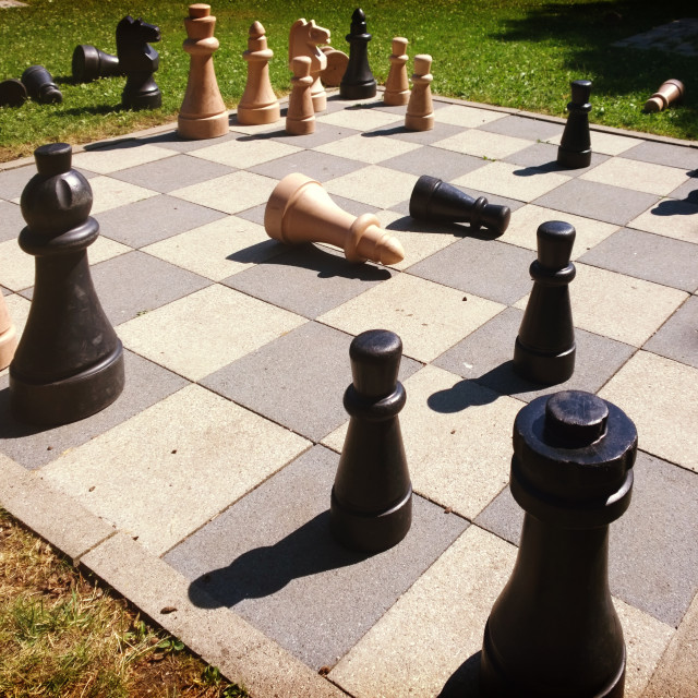 """""""chess game board outdoors"""" stock image"""