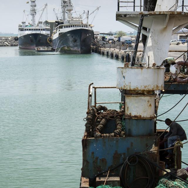"""Fishing port"" stock image"
