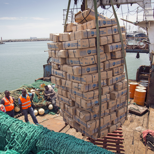 """""""Catch being offloaded"""" stock image"""