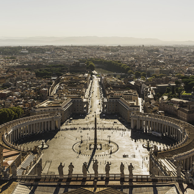 """""""St Peter's square"""" stock image"""