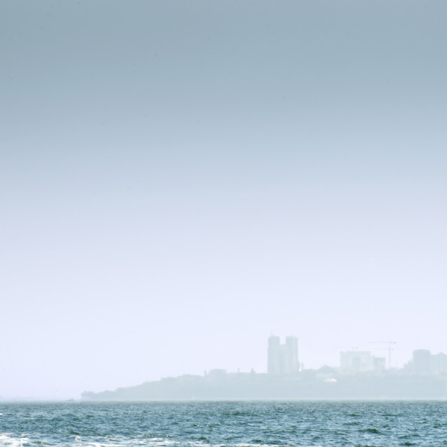 """Maputo from the sea"" stock image"