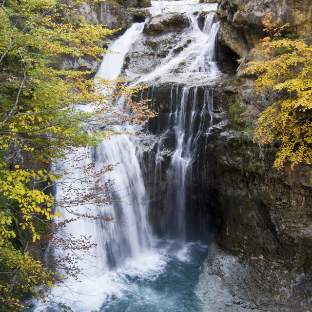 """""""Waterfall in Ordesa"""" stock image"""