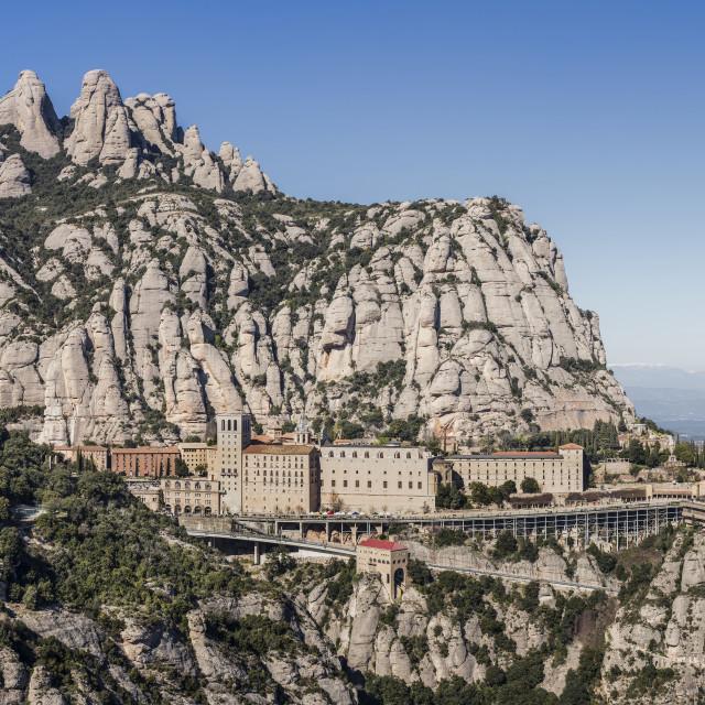 """""""Montserrat monastery"""" stock image"""