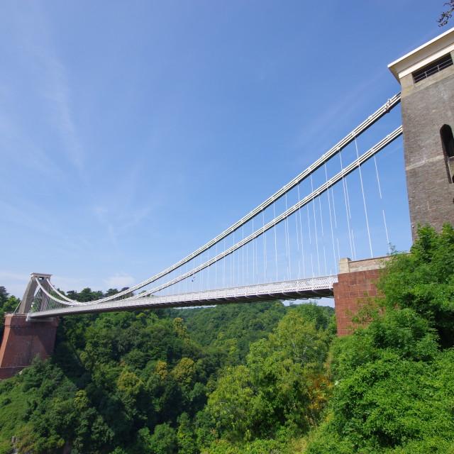 """Bristol Suspension Bridge [larger version]"" stock image"