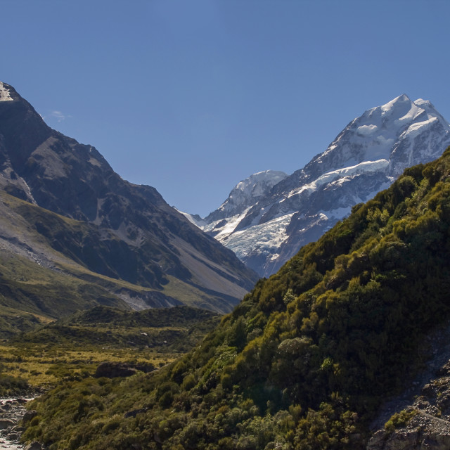 """Mount Cook In New Zealand"" stock image"