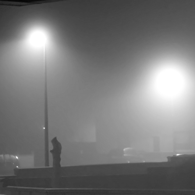 """Man in fog"" stock image"