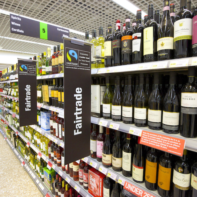 """Fairtrade Wine Aisle."" stock image"