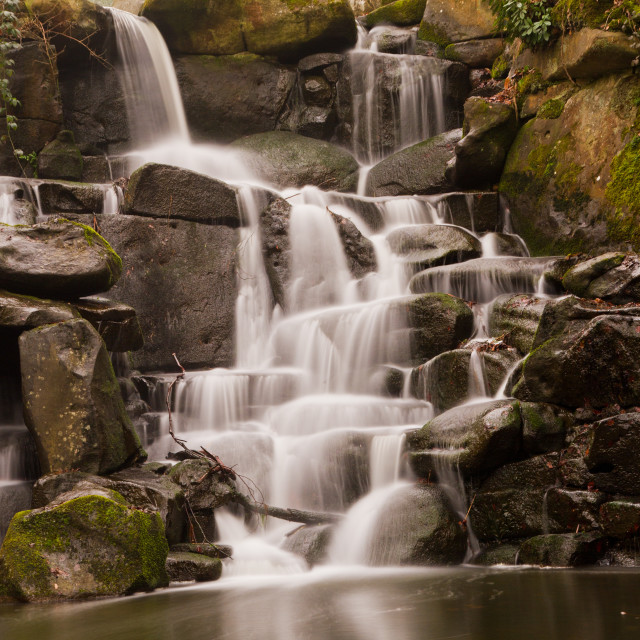 """The Cascade at Virginia Water"" stock image"