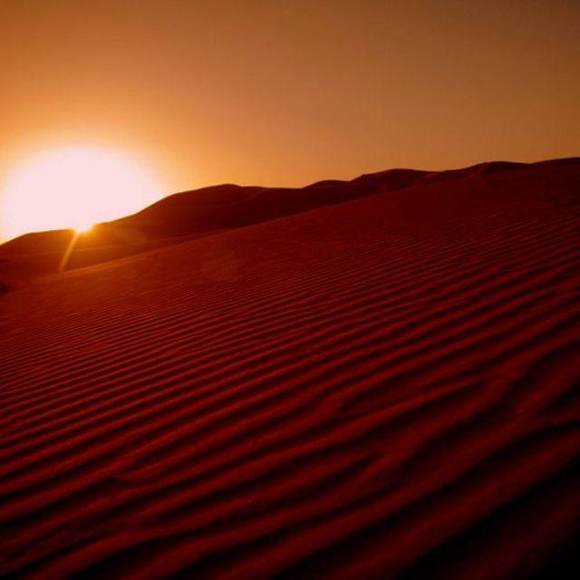"""Sahara sunrise"" stock image"