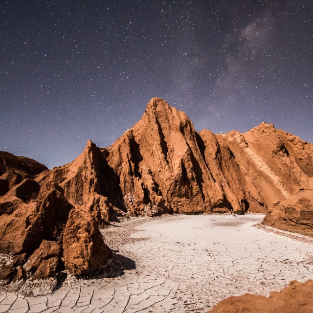 """Atacama Desert at Night"" stock image"