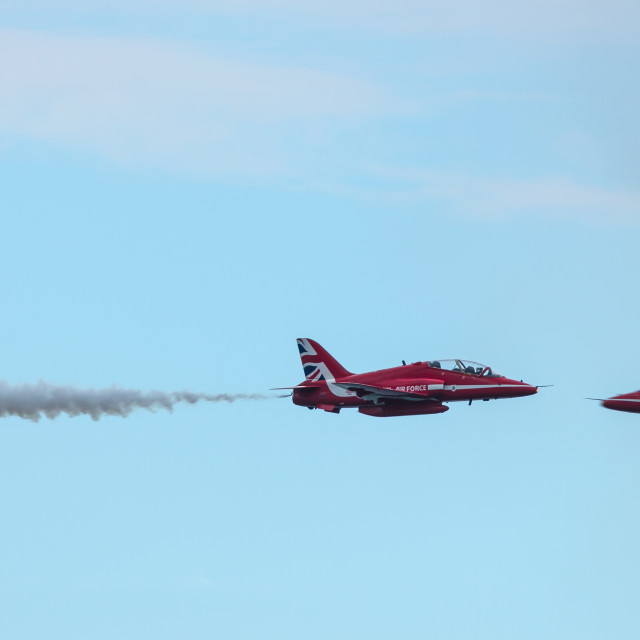 """""""Red Arrows Head to Head"""" stock image"""