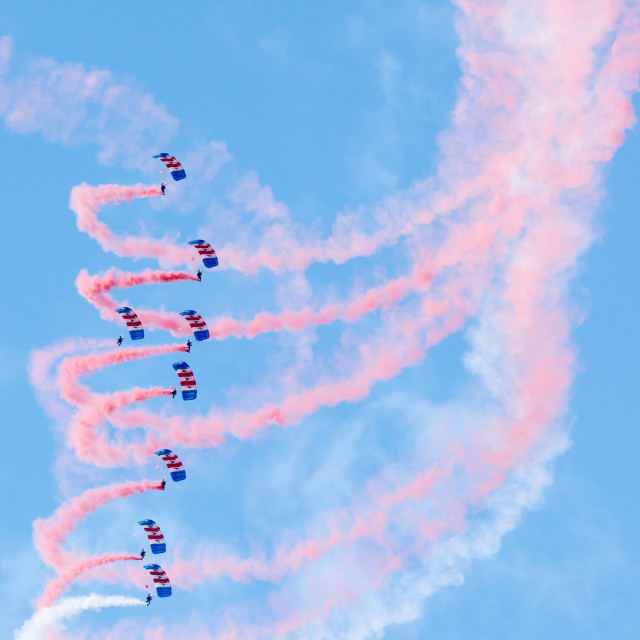 """RAF Falcons Parachute display team"" stock image"