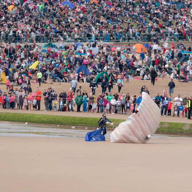 """Tigers Parachute display team landing"" stock image"