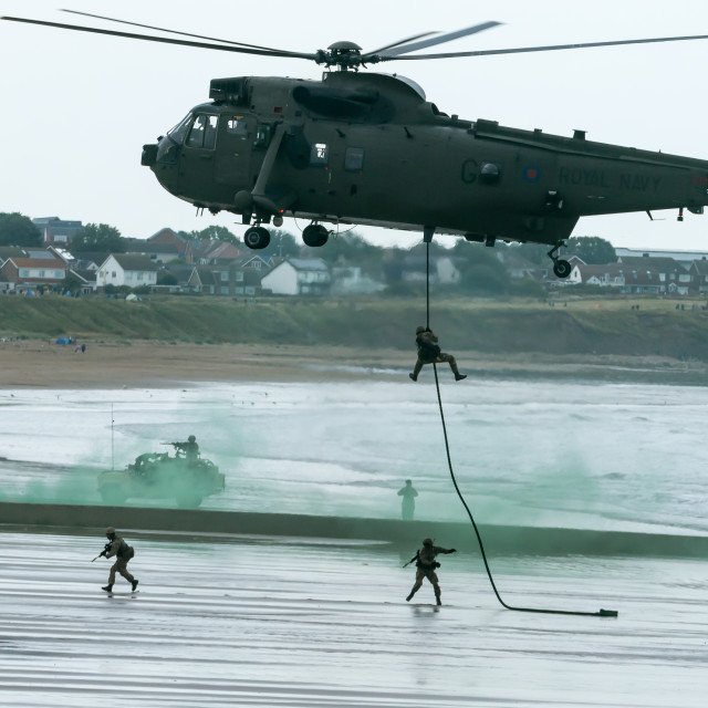 """""""British Royal Marine Commando Helicopter"""" stock image"""