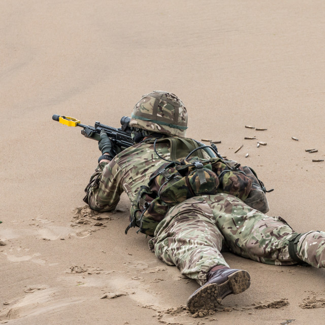 """British Royal Marine Commando"" stock image"