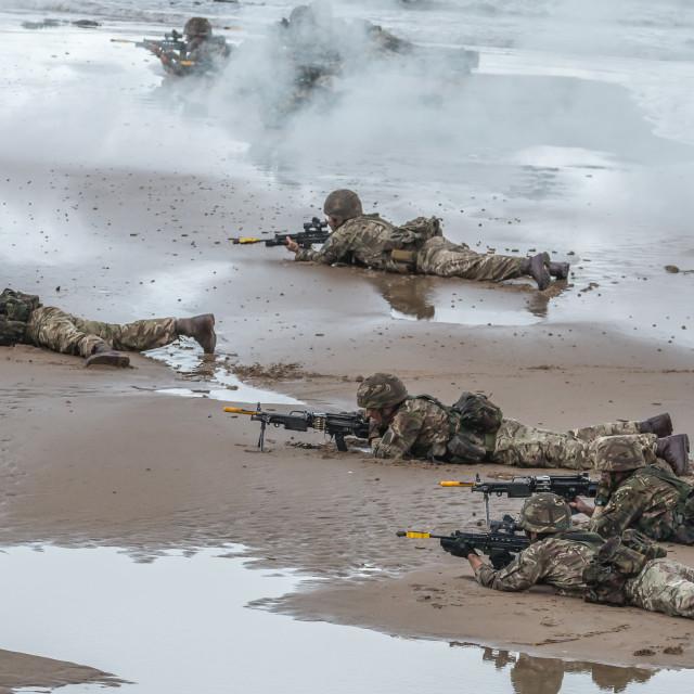 """British Royal Marine Commandos"" stock image"