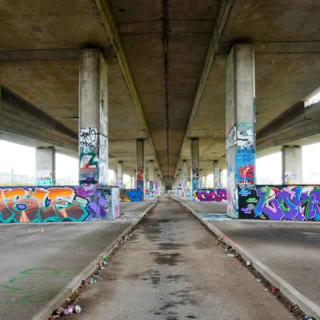 """Unigate Graffiti"" stock image"
