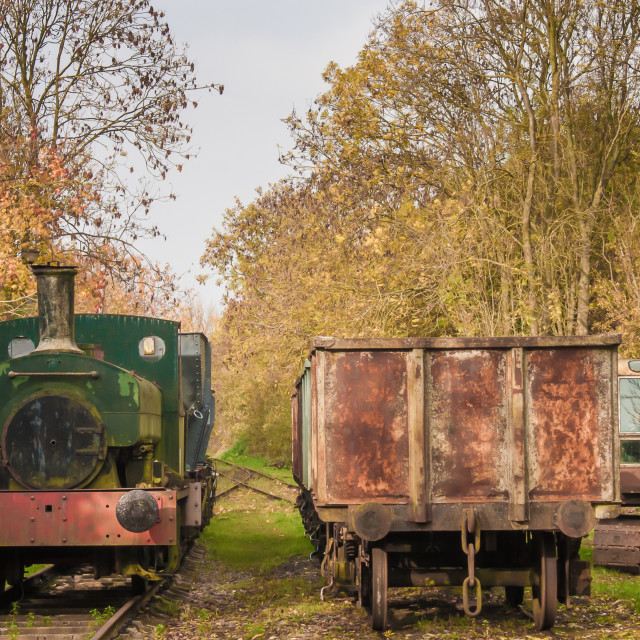 """Vintage Steam Train"" stock image"