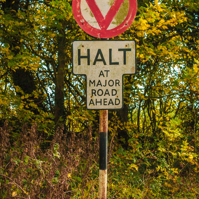 """Retro Road Sign"" stock image"