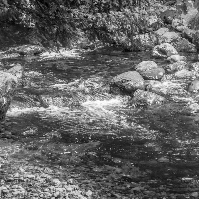 """Rocks in a Stream"" stock image"