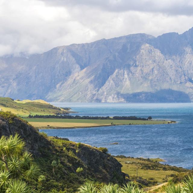 """""""Lake Wakatipi"""" stock image"""