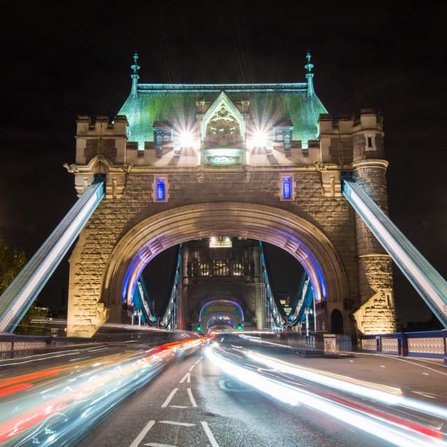 """Tower Bridge Entrance"" stock image"