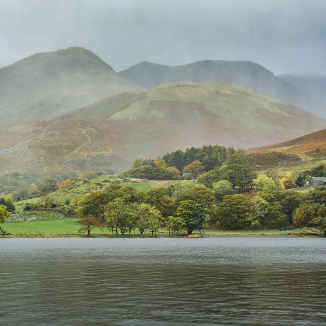 """Storm over Buttermere"" stock image"