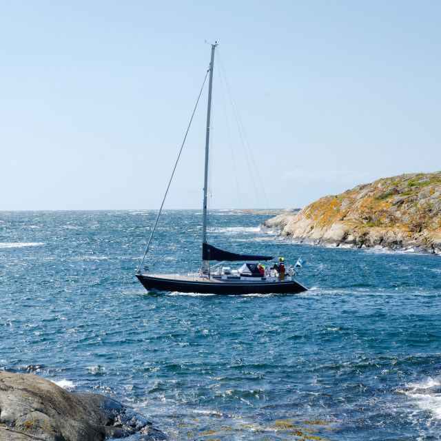 """sailboat at the westcoast"" stock image"