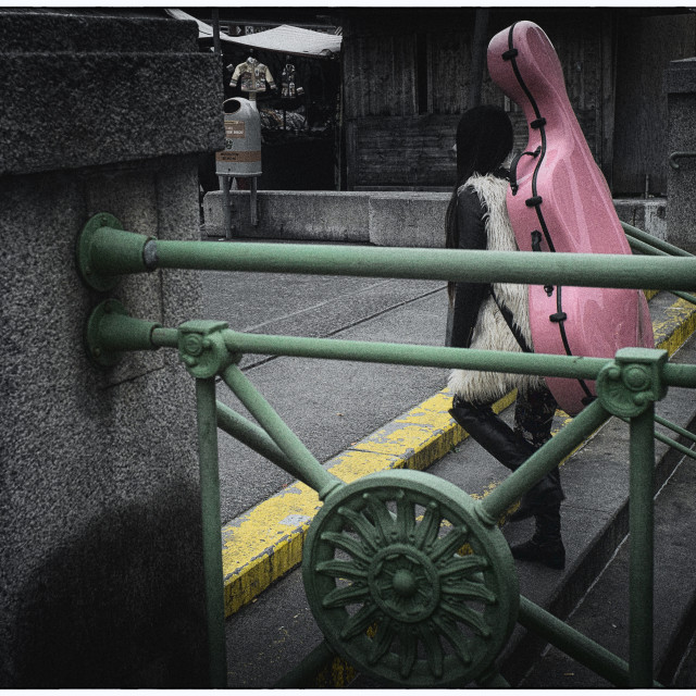 """""""Pink cello"""" stock image"""