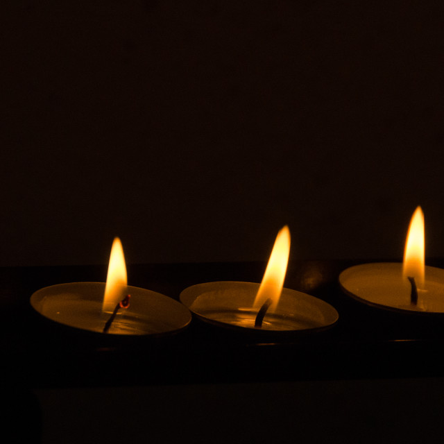 """Three Candles"" stock image"