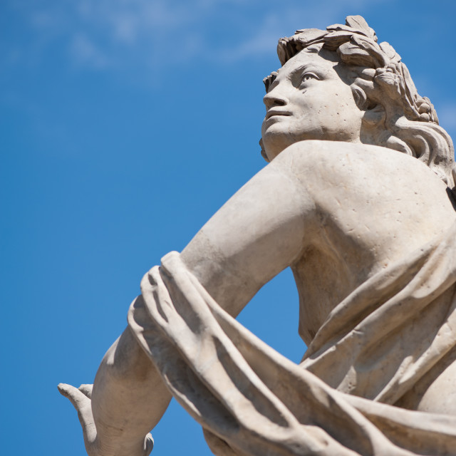 """""""Statue without Polarising filter"""" stock image"""