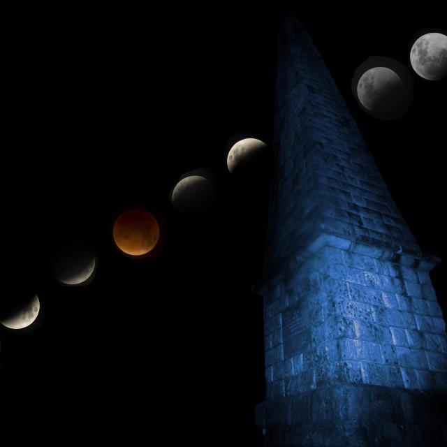 """Lunar Eclipse Composite Image"" stock image"