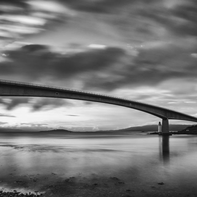 """The Skye Bridge"" stock image"