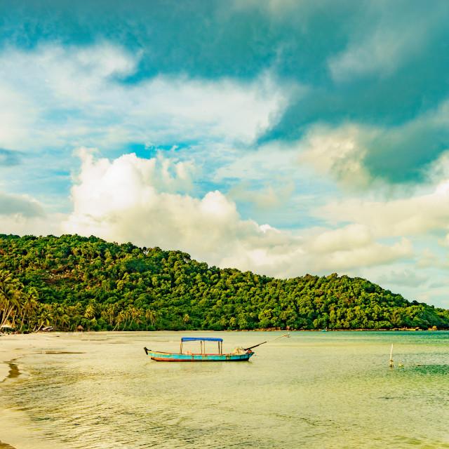 """Beautiful beach sea of tropical sea"" stock image"