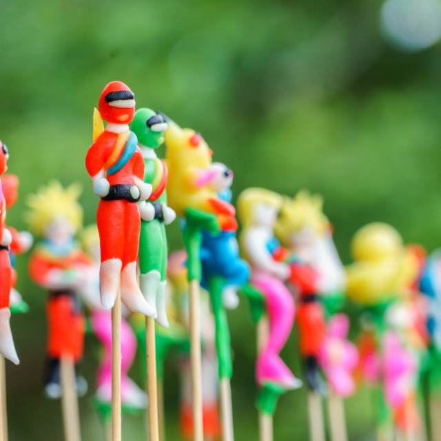"""Colorful of toys figurine"" stock image"