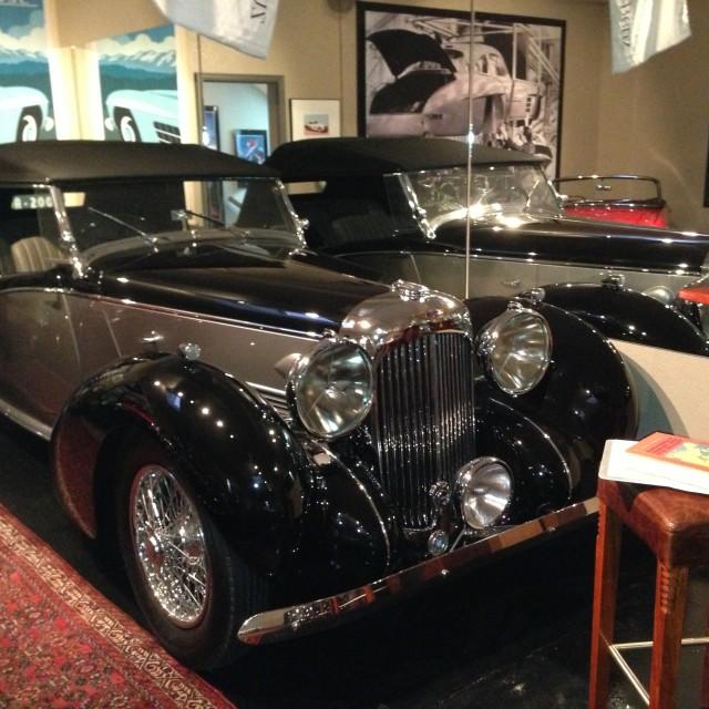 """Early 30's Lagonda Convertible"" stock image"