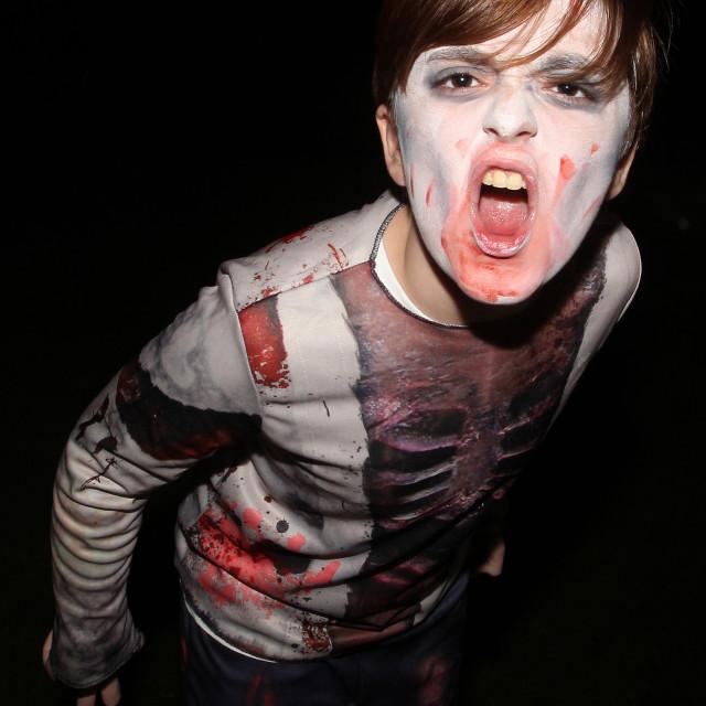 """Zombie Boy at Halloween 2"" stock image"