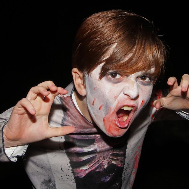 """Zombie Boy at Halloween 3"" stock image"